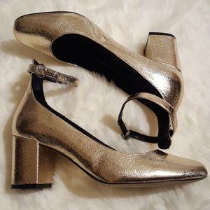 Gap Gold Metallic Block Heel